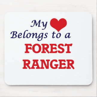 My heart belongs to a Forest Ranger Mouse Pad