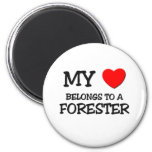 My Heart Belongs To A FORESTER 2 Inch Round Magnet