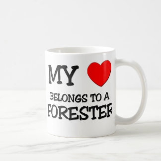 My Heart Belongs To A FORESTER Coffee Mug