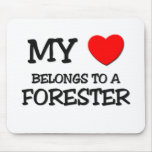 My Heart Belongs To A FORESTER Mouse Mats