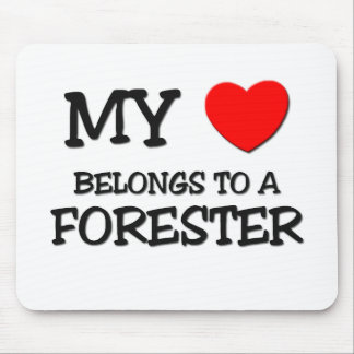 My Heart Belongs To A FORESTER Mouse Pad