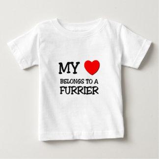 My Heart Belongs To A FURRIER Tee Shirt