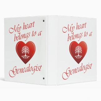 My Heart Belongs To A Genealogist 3 Ring Binder