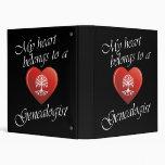 My Heart Belongs To A Genealogist Binder