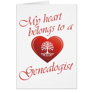 My Heart Belongs To A Genealogist Card