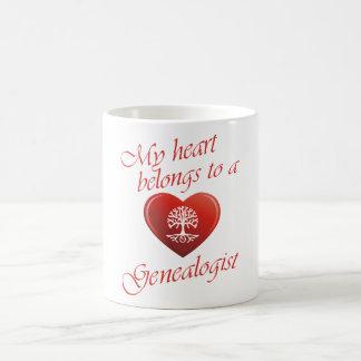 My Heart Belongs To A Genealogist Coffee Mug