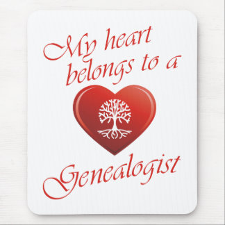 My Heart Belongs To A Genealogist Mouse Pad