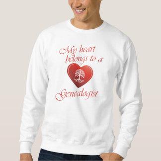 My Heart Belongs To A Genealogist Sweatshirt