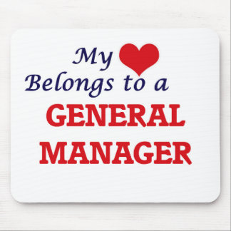 My heart belongs to a General Manager Mouse Pad