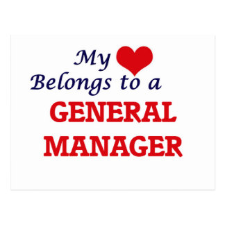 My heart belongs to a General Manager Postcard
