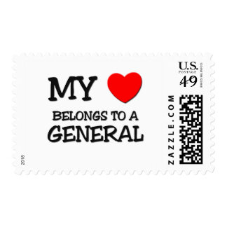 My Heart Belongs To A GENERAL Postage Stamp