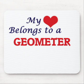 My heart belongs to a Geometer Mouse Pad