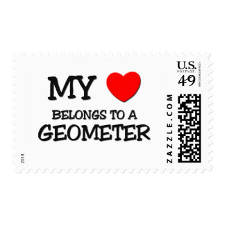 My Heart Belongs To A GEOMETER Stamp