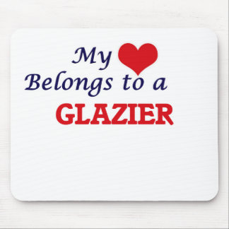 My heart belongs to a Glazier Mouse Pad