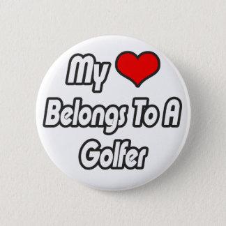 My Heart Belongs To A Golfer Pinback Button