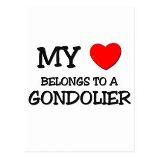 My Heart Belongs To A GONDOLIER Postcard