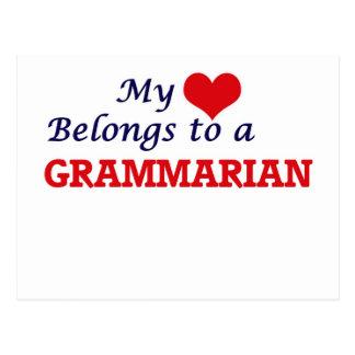 My heart belongs to a Grammarian Postcard