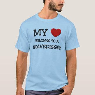 My Heart Belongs To A GRAVEDIGGER T-Shirt