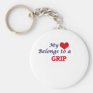 My heart belongs to a Grip Keychain