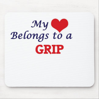 My heart belongs to a Grip Mouse Pad