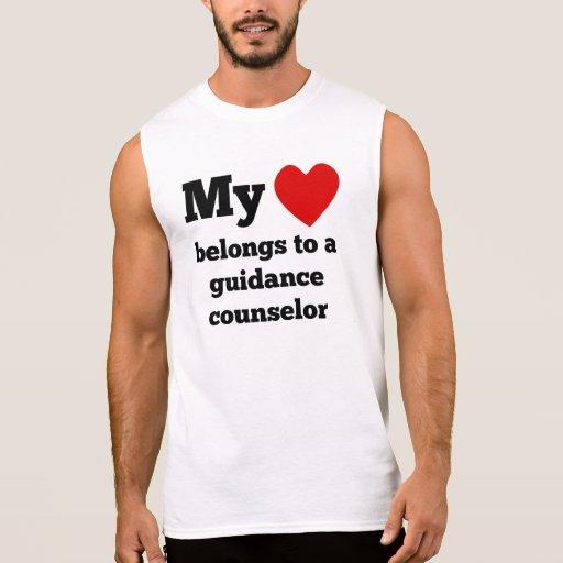 My Heart Belongs To A Guidance Counselor Sleeveless Tees Tank Tops, Tanktops Shirts