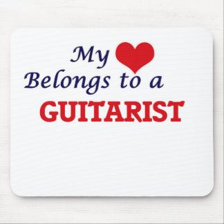 My heart belongs to a Guitarist Mouse Pad