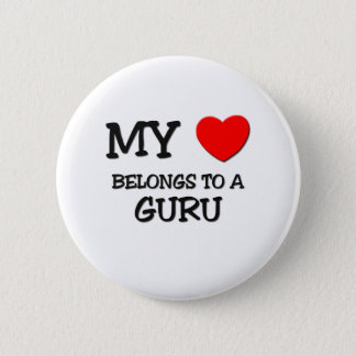 My Heart Belongs To A GURU Pinback Button