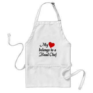 My heart belongs to a head Chef Adult Apron