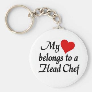 My heart belongs to a head Chef Keychain