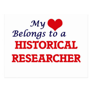My heart belongs to a Historical Researcher Postcard