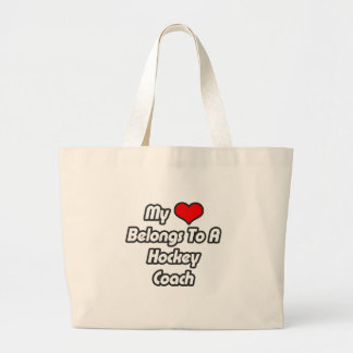 My Heart Belongs To A Hockey Coach Tote Bag