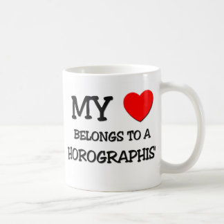 My Heart Belongs To A HOROGRAPHIST Classic White Coffee Mug