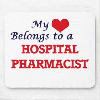 My heart belongs to a Hospital Pharmacist Mouse Pad