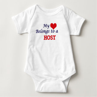 My heart belongs to a Host Baby Bodysuit