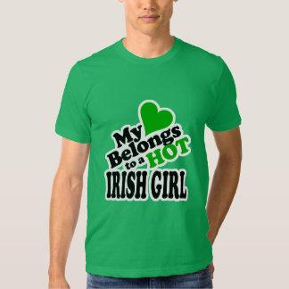 My Heart Belongs to a HOT Irish Girl T Shirt