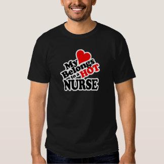 My Heart Belongs to a Hot Nurse! T Shirt