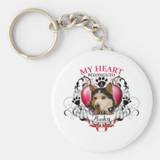My Heart Belongs to a Husky Keychain