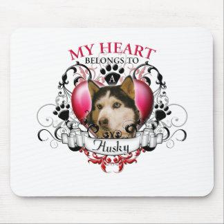 My Heart Belongs to a Husky Mouse Pad