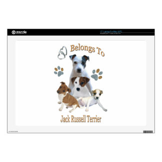 """My Heart Belongs To A Jack Russell 17"""" Laptop Decal"""
