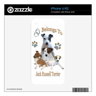 My Heart Belongs To A Jack Russell Decals For The iPhone 4S