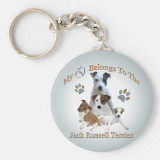My Heart Belongs To A Jack Russell Keychain