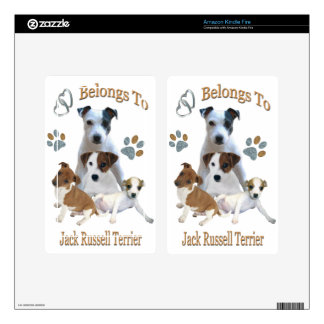 My Heart Belongs To A Jack Russell Kindle Fire Decal