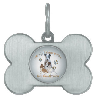 My Heart Belongs To A Jack Russell Pet Tag