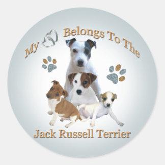 My Heart Belongs To A Jack Russell Sticker