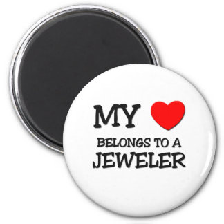 My Heart Belongs To A JEWELER 2 Inch Round Magnet