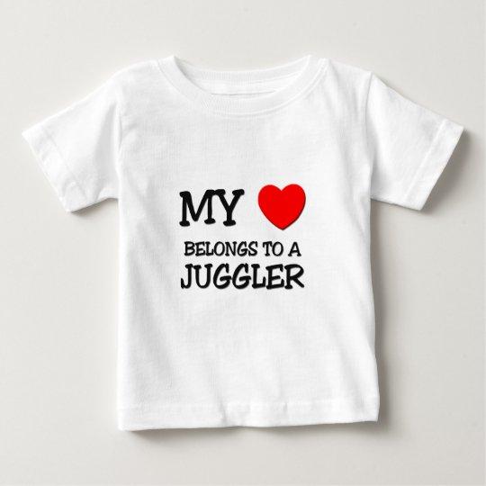 My Heart Belongs To A JUGGLER Baby T-Shirt
