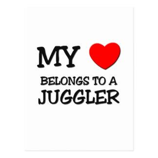 My Heart Belongs To A JUGGLER Postcard