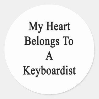 My Heart Belongs To A Keyboardist Stickers