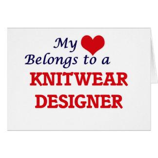 My heart belongs to a Knitwear Designer Card