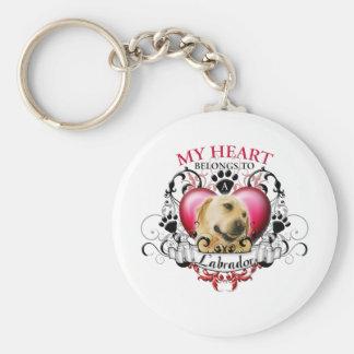 My Heart Belongs to a Labrador Keychain